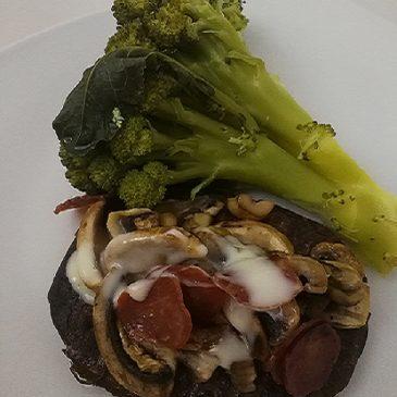 Hambúrguer com Cogumelos