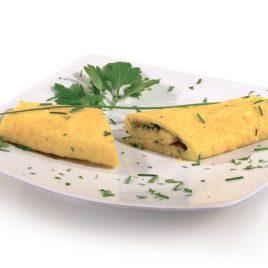 Omelete com Ervas Aromáticas Sem Lactose
